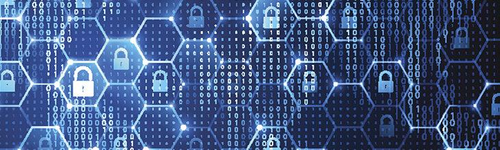 Computer digital forensics image of locked data